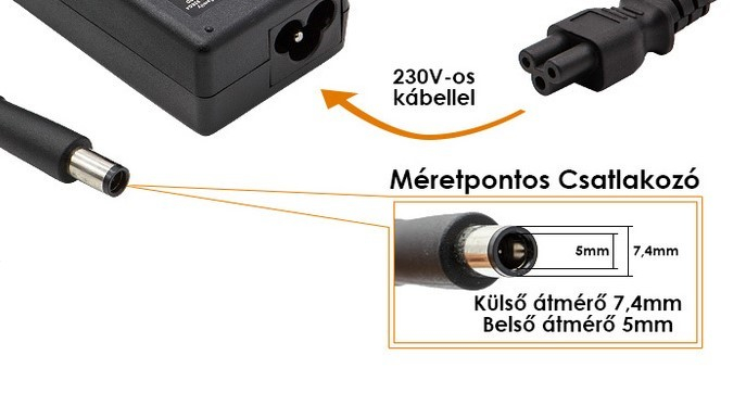 Dell 19.5V 3.34A 65W gyári adapter