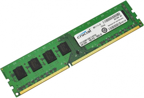 Crucial 4GB DDR3 1600MHz CL11 PC12800