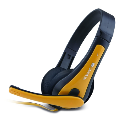 CANYON Stereo Headset Fekete-Sárga CNS-CHSC1BY