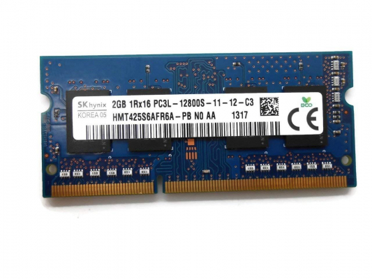 2GB DDR3L PC12800S 1600MHz So-Dimm notebook memória (1.35V)