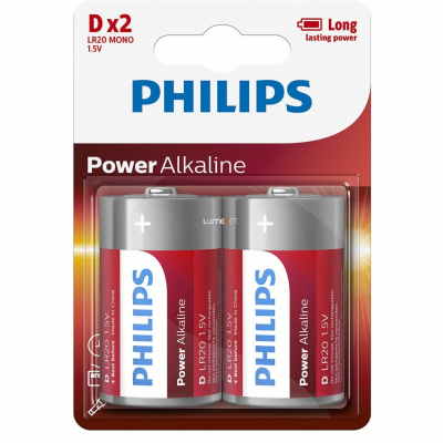 Philips LR20 D Mono Alkaline 1.5V PowerLife