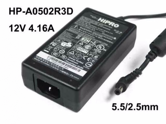 Hipro 12V 4,16A 50W adapter HP-A0502R3D